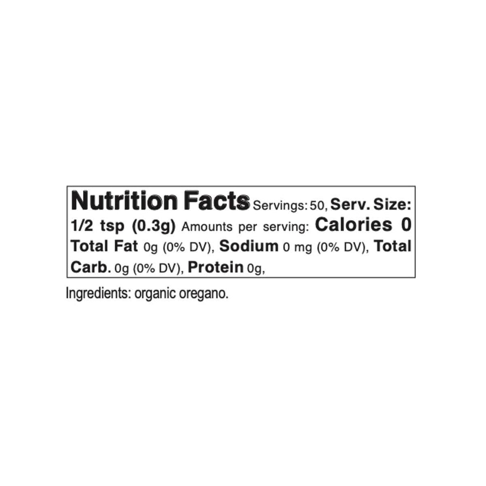 Bona Furtuna Organic Oregano Flowers - Nutrition Facts and Ingredients