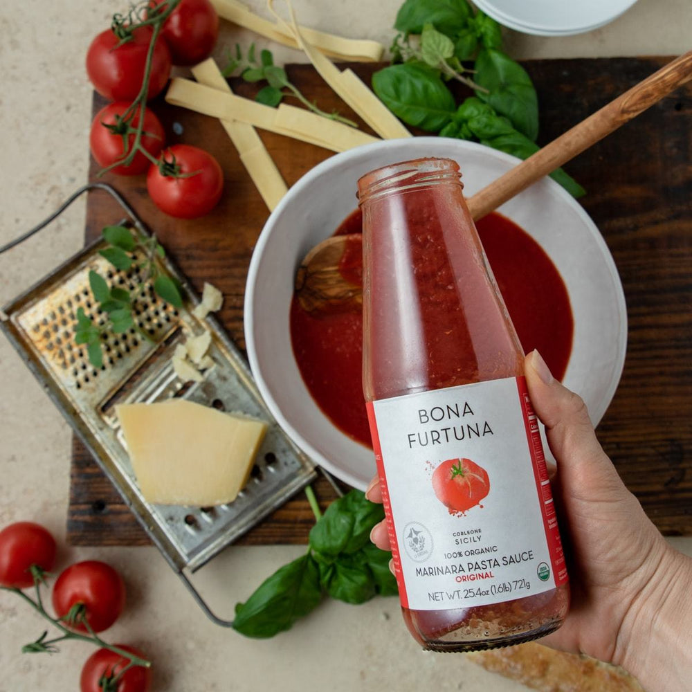 Bona Furtuna Original Marinara with Meal Prep - Organic Jarred Tomato Sauce