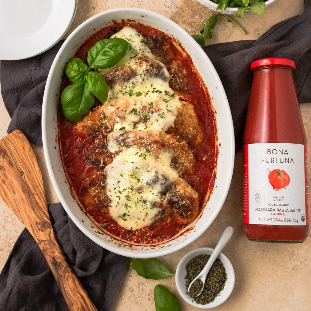 Bona Furtuna Original Marinara with Eggplant Parmesan - Traditional Italian Pasta Sauce