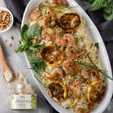 Bona Furtuna Sicilian Sea Salt with Organic Lemon with Shrimp Dish - Lemon Sea Salt