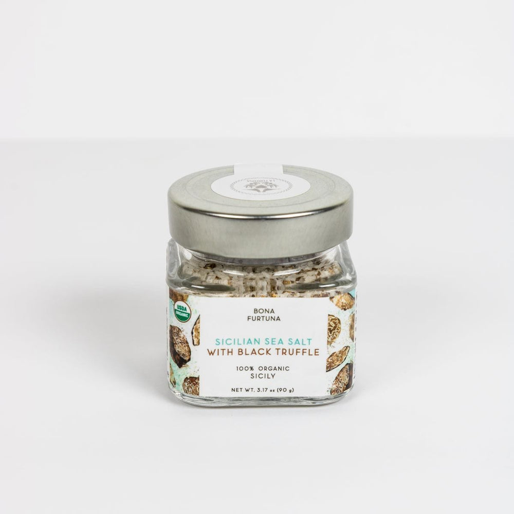 Bona Furtuna Sicilian Sea Salt with Black Truffle - Italian Black Truffle Salt