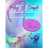 Play It Simple 2018 Hottest Jewish Hits-Music Book-NoteWithGrace.com