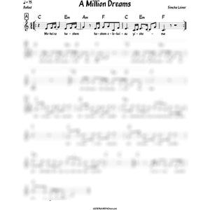 A Million Dreams Lead Sheet (Simchah Leiner) The Greatest Chuppah-Sheet music-NoteWithGrace.com