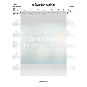 A Succah'le A Kleine Lead Sheet (Traditional)-Sheet music-NoteWithGrace.com