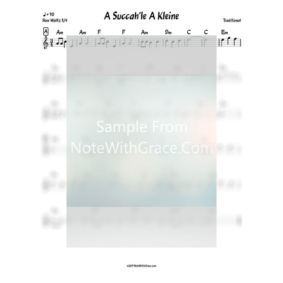 Succos Bundle Lead Sheets (Mixed Collections)-Sheet music-NoteWithGrace.com