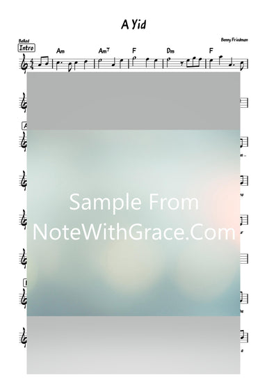 A Yid - א איד Lead Sheet (Benny Friedmann) Single Online 2021-Sheet music-NoteWithGrace.com