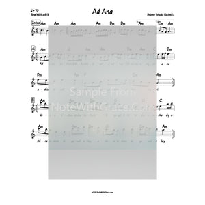 Ad Ana Lead Sheet (Shlomo Yehudah Rechnitz) Shir 2-Sheet music-NoteWithGrace.com
