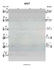 Aifo? Lead Sheet (Matt Dubb) Single Released 2019-Sheet music-NoteWithGrace.com