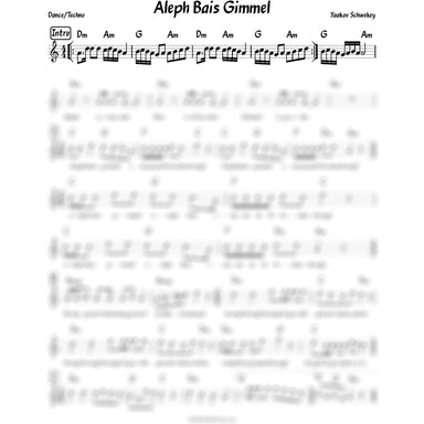 Aleph Beis Gimmel Lead Sheet (Yaakov Schwekey) In Honor Of Rabbi Rubashkin-Sheet music-NoteWithGrace.com