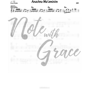 Anachnu Ma'aminim Lead Sheet (MBD) Album: Ma'aminim-Sheet music-NoteWithGrace.com