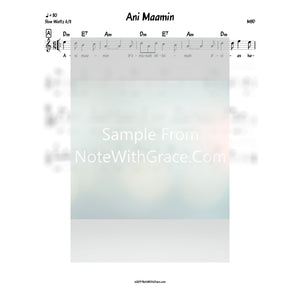 Ani Maamin Lead Sheet (MBD)-Sheet music-NoteWithGrace.com