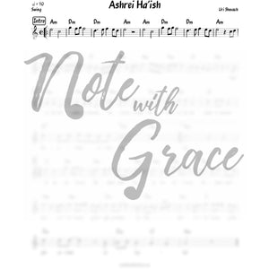 Ashrei Ha'ish Lead Sheet (Uri Shevach)-Sheet music-NoteWithGrace.com