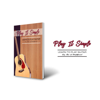 Play It Simple Learn To Play Guitar-Music Book-NoteWithGrace.com