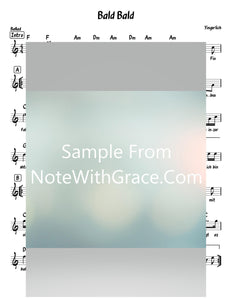 Bald Bald - באלד באלד Lead Sheet (Yingerlach) Album: Yingerlich 2 Released 2020-Sheet music-NoteWithGrace.com