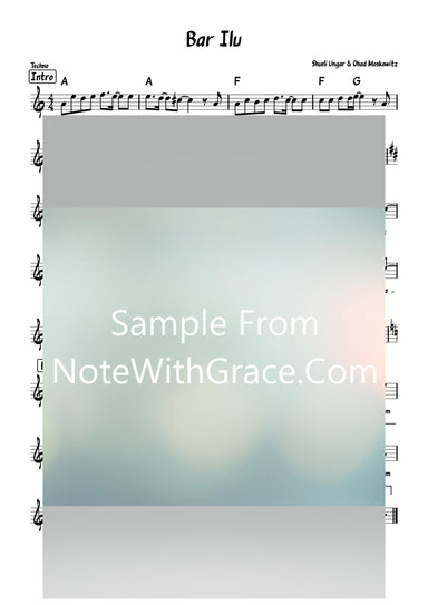 Bar Ilui - בר אלעאי Lead Sheet (Shmueli Ungar - Ohad Moskowitz) Single: 2021-Sheet music-NoteWithGrace.com