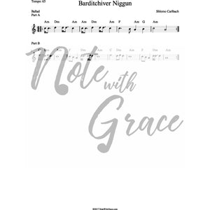 Niggun Barditchev Lead Sheet (Shlomo Carlbach)-Sheet music-NoteWithGrace.com