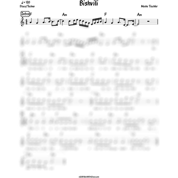 Bishvili Lead Sheet (Moshe Tischler) 2018-Sheet music-NoteWithGrace.com
