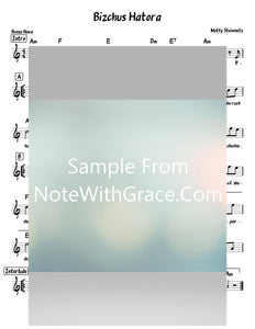 Bizchus Hatorah Lead Sheet (Motty Steinmetz) Single 2019-Sheet music-NoteWithGrace.com