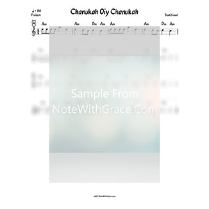 Chanukah Oiy Chanukah Lead Sheet (Traditional Chanukah)-Sheet music-NoteWithGrace.com
