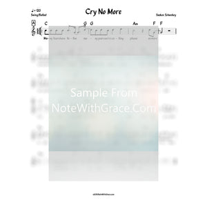 Cry No More Lead Sheet (Yaakov Schwekey) Album: Shwekey Live in Nokia Stadium 2013-Sheet music-NoteWithGrace.com