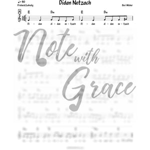 Didan Netzach Lead Sheet (Beri Weber) Album: One Heart-Sheet music-NoteWithGrace.com