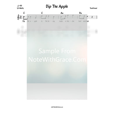 Dip The Apple Lead Sheet (Traditional)
