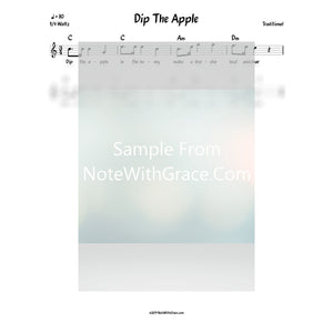 Dip The Apple Lead Sheet (Traditional)-Sheet music-NoteWithGrace.com