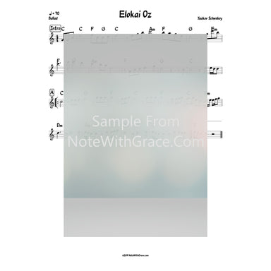 Elokai Oz Lead Sheet (Yaakov Schwekey) Single 2018-Sheet music-NoteWithGrace.com