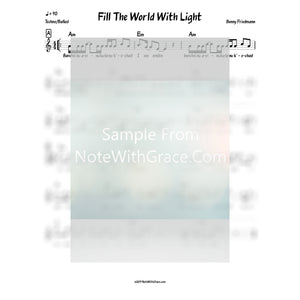 Fill The World With Light Lead Sheet (Benny Friedman) Album Fill The World With Light 2016-Sheet music-NoteWithGrace.com