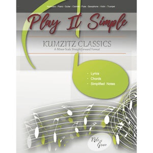 Play It Simple Kumzitz Collections-Music Book-NoteWithGrace.com