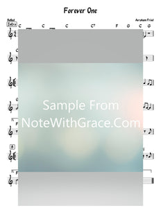 Forever One Lead Sheet (Avrohom Fried) Album Forever One 2010-Sheet music-NoteWithGrace.com