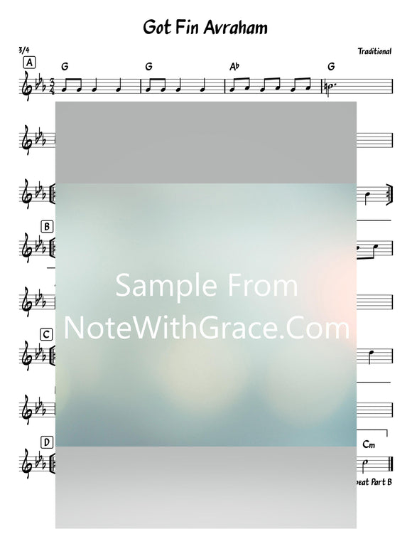 Got Fin Avaraham - גאט פון אברהם Lead Sheet (Traditional)-Sheet music-NoteWithGrace.com