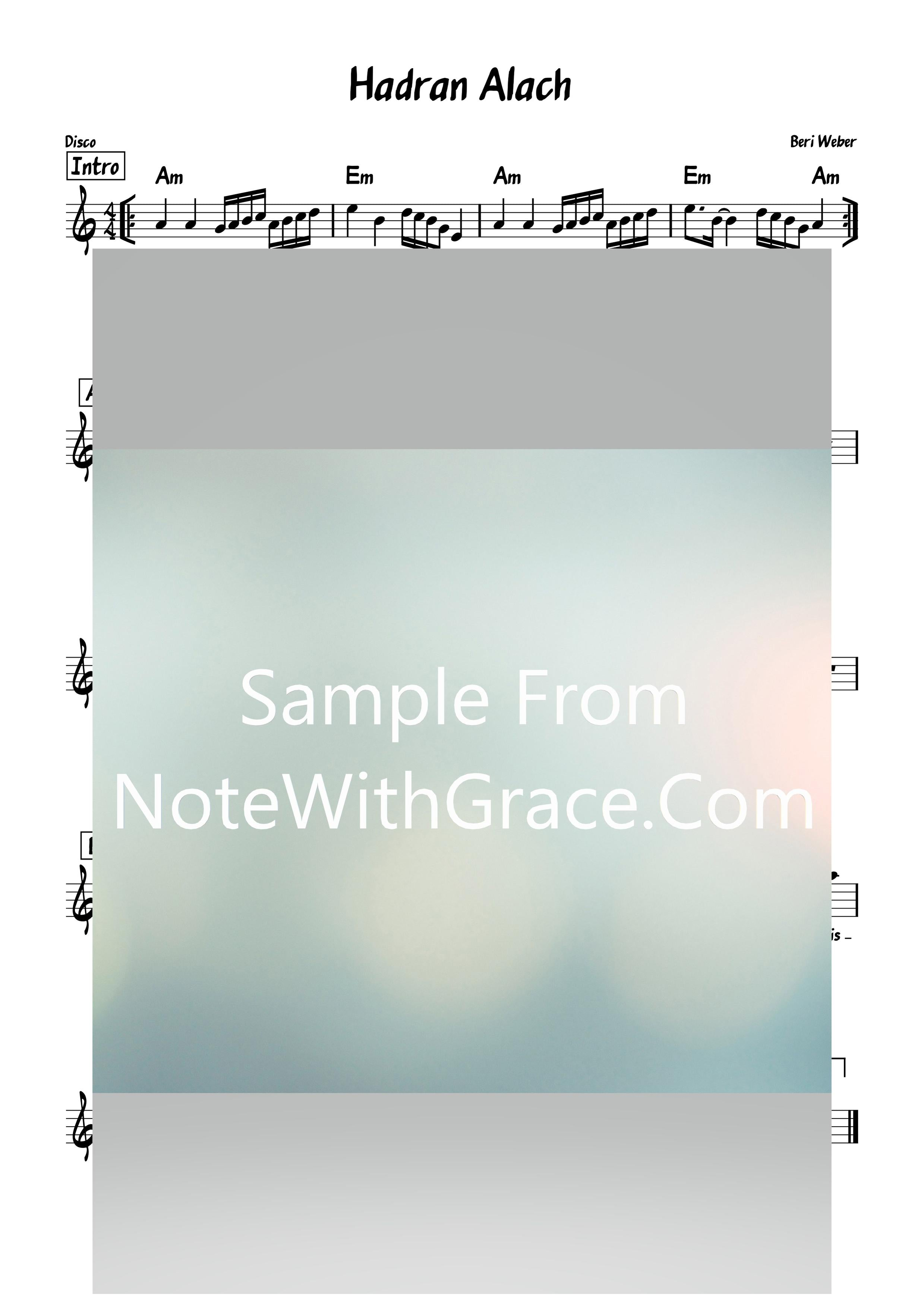 Hadran - הדרן Lead Sheet (Beri Weber) Single 2019-Sheet music-NoteWithGrace.com