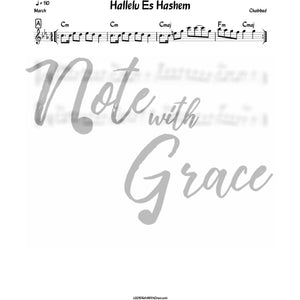 Hallelu Es Hashem Lead Sheet (Chabad)-Sheet music-NoteWithGrace.com