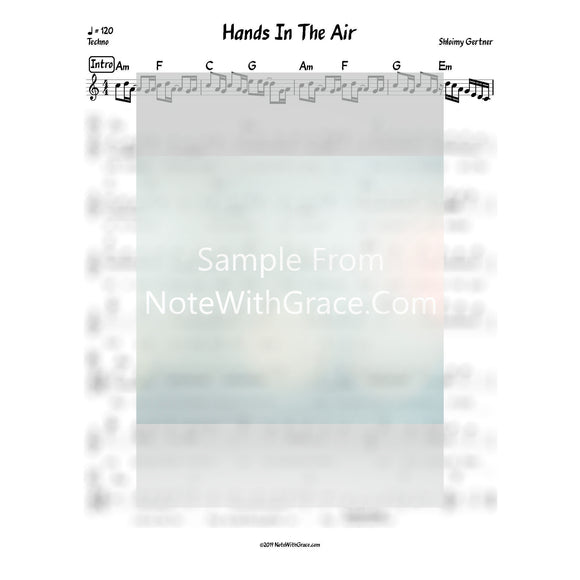Put Your Hands In The Air Lead Sheet (Shloimy Gertner) Album: Serenity Released 2018-Sheet music-NoteWithGrace.com