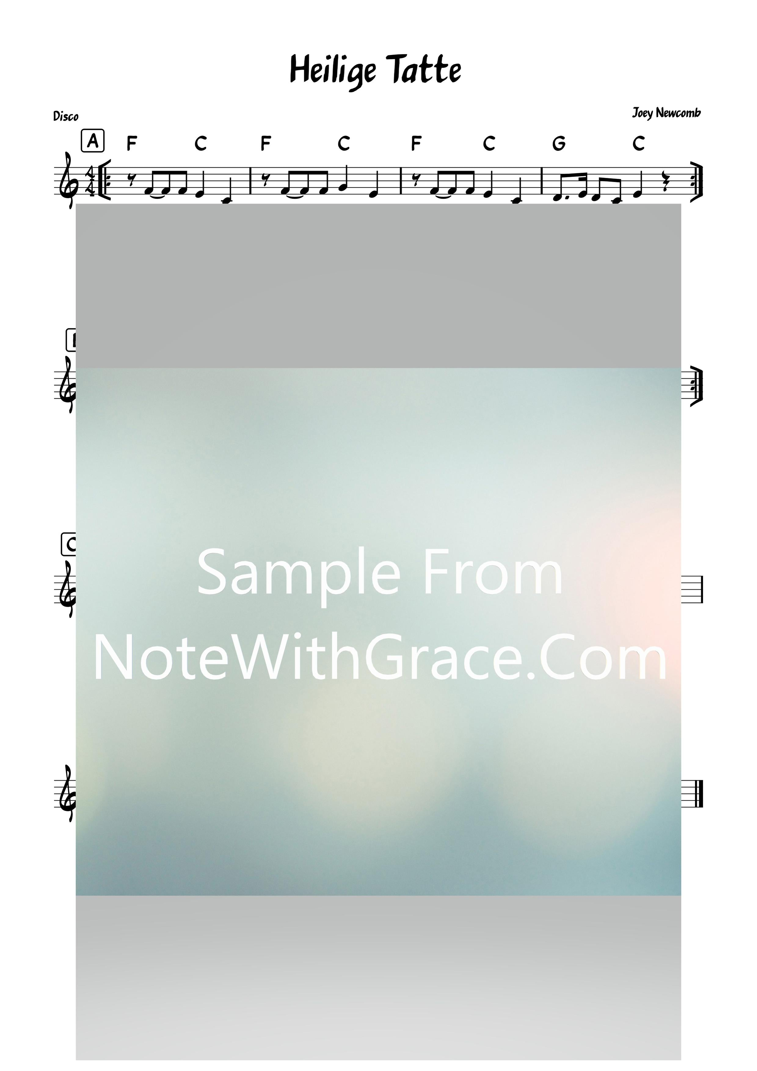 Heilige Tatte - אל אבי Lead Sheet (Joey Newcomb) Album How Aw Ya Reb Yid? 2020-Sheet music-NoteWithGrace.com