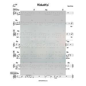 Hiskabtzi Lead Sheet (Yossi Green) Album: Yiddish Nachas (Released 2014)-Sheet music-NoteWithGrace.com