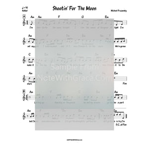 Shootin' For The Moon Tonight Lead Sheet (Michoel Pruzansky) Shootin' for the Moon-Sheet music-NoteWithGrace.com
