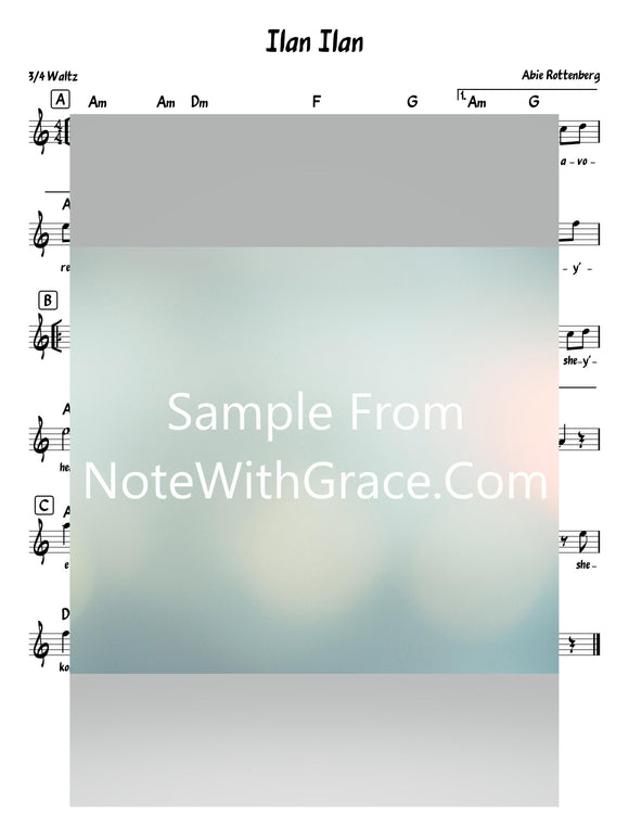 Shomer Yisroel - שומר ישראל Lead Sheet (Uziah Tzadok - עוזיה צדוק)-Sheet music-NoteWithGrace.com