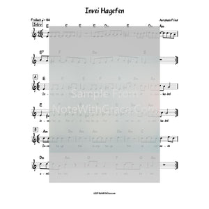 Invei Hagefen Lead Sheet (Avrohom Fried) Album Forever One 2010-Sheet music-NoteWithGrace.com