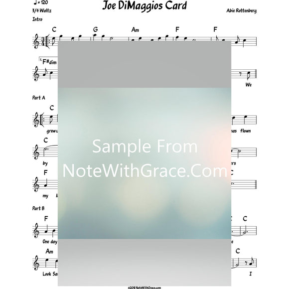 Joe DiMaggios Card Lead Sheet (Abie Rottenberg)-Sheet music-NoteWithGrace.com