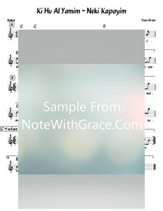 Ki Hu Al Yamim - N'ki Kapayim Lead Sheet (Yossi Green) Sung By Shloimy Dask Relax 2-Sheet music-NoteWithGrace.com