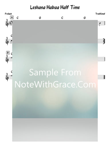 Leshana Habaa Lead Sheet (Traditional)-Sheet music-NoteWithGrace.com