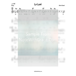 Lo Luni Lead Sheet (Ahrele Samet) Album: Ahrele-Sheet music-NoteWithGrace.com