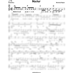 Machar (Mordechai Shapiro) Album: Machar-Sheet music-NoteWithGrace.com