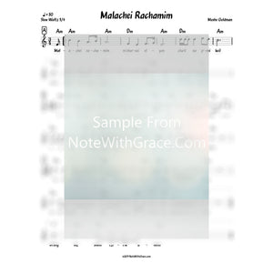 Malachei Rachamim Lead Sheet (Moshe Goldman)-Sheet music-NoteWithGrace.com