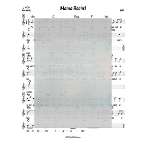 Mama Rochel Lead Sheet (MBD) Album: The Double Album 1990-Sheet music-NoteWithGrace.com