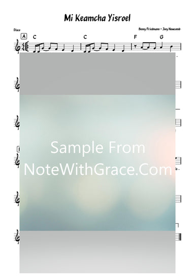 Mi Keamcha Yisroel - מי כעמך ישראל Lead Sheet (Joey Newcomb - Benny Friedmann) Album How Aw Ya Reb Yid? 2020-Sheet music-NoteWithGrace.com