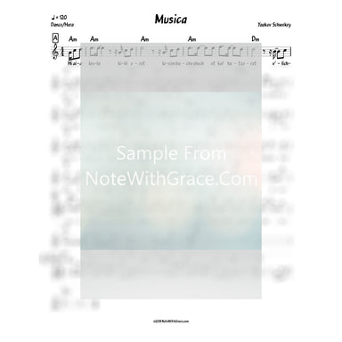 Musica Lead Sheet (Yaakov Schwekey) Album: Musica-Sheet music-NoteWithGrace.com