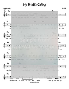 My Shtetl's Calling Lead Sheet (8th day) Album Stronger Closer 2018-Sheet music-NoteWithGrace.com